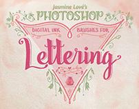 Digital-Ink Lettering Brushes for Photoshop