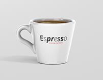 Espresso Cup Mockup - Cone Shape