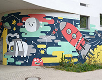 """Mural """"Weltraum"""""""