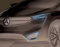 Mercedes sketchs