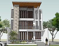 Desain Arsitektur Rumah Usaha di Jakarta Timur