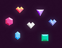Freebie // Icons: Gems & Diamonds