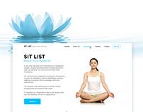 """Sit List"" Yoga Website"