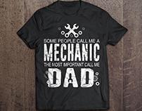 Mechanic T-Shirt Design | T-Shirt Design