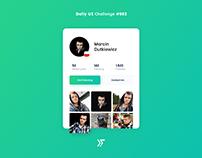 Daily UI #002 - User Profile