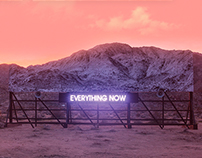 Landing page for Arcade Fire - Everything Now