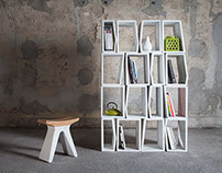 Marmeria: Modular Marble Bookshelf