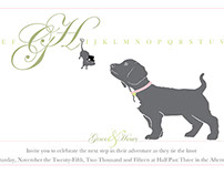 Mouse and Dog Wedding Invitation