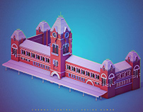 Chennai Central Railway Station- 3D art