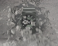 Wall Breach Explosion Watch 3D Product Animation