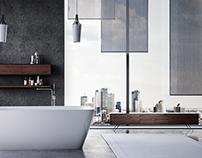 Walnut Piero luxury bathroom