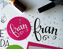 Letras de amor para Fran ♥