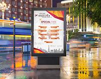 Flyer for Travel Agency