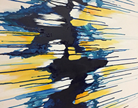Abstract Painting - Blues & Yellows