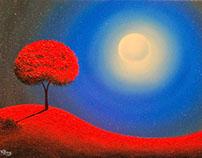 Red Tree Art Night..