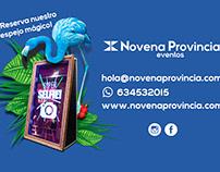 Diseño tarjeta visita para Novena Provincia Eventos
