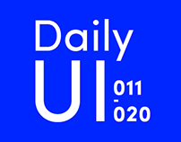 Daily UI Challenge New Version (011-020)