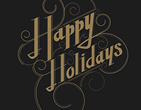 Lettering - Happy Holidays
