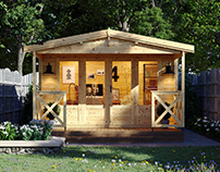 Garden office - 3d visualization