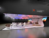 Проект выставочного  стенда площадью 225 м.кв.