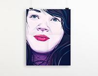 Vector Self-portrait Poster