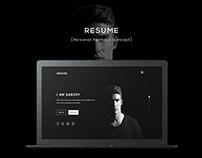 Resume Personal Portfolio Concept