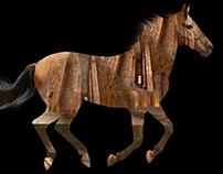 Pharaonic Horse- black