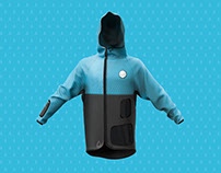 FRAGMENT raincoat, customizable sport clothes