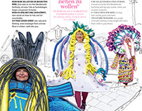 Air Berlin Mag: Alternative Fashion Week illustrations
