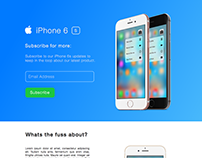 iPhone 6s promotion website