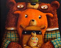 Niedźwiedzia rodzina i Pan Skarpeta