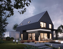 Small passive house (viz. for lk-projekt.pl)