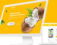 Web-site. Продукция из кокоса