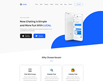 Lucal - Mobile App Lading Page PSD Template