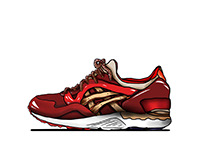 Asics Volcano rendering photoshop