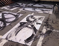 Large-scale Gestural Painting
