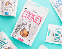 Branding and package design for Smakuli cookies