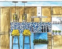 Interior design - Manual rendering