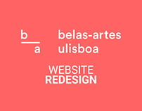 Website Redesign | Faculdade de Belas Artes de Lisboa