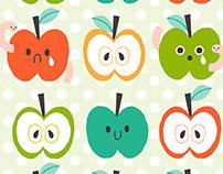 Happy/Sad Apple Pattern