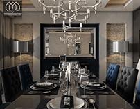 Modern Villa DInning & Kitchen