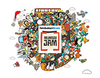 Mumbai Jam Identity Illustrations