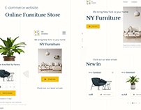 Online Furniture Store - Mobile First Design