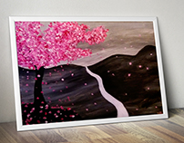 Cherry Tree in the wind