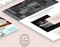 Website Art Room / website design / UI/UX / webdesign