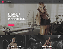 Barcelona - Theme for Fitness Gym and Fitness Centers