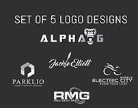 Set of 5 Logo Designs(Collection)
