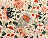 Jacobian Floral Pattern Design