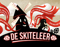 De Skiteleer - beer label