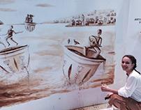 Live painting -Café Najjar
